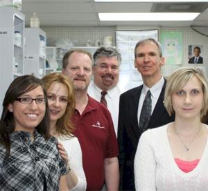Bill Lipinski with Jack Lazzarra and staff